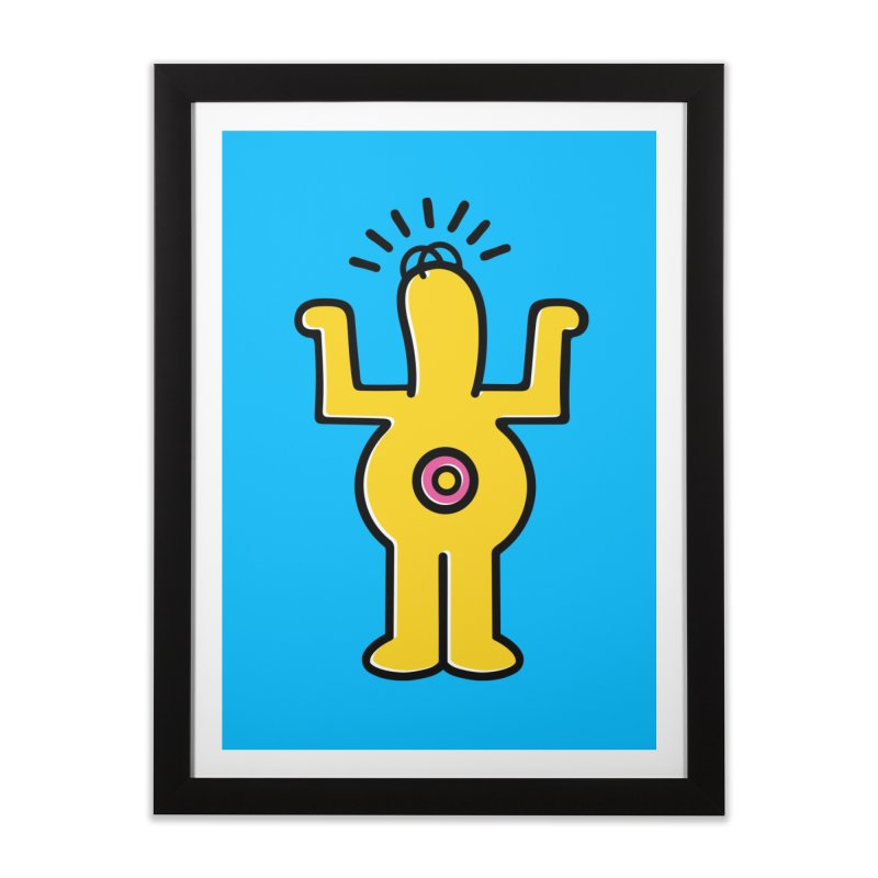 Woo-hoo! Home Framed Fine Art Print by Steve Dressler Illustration & Design
