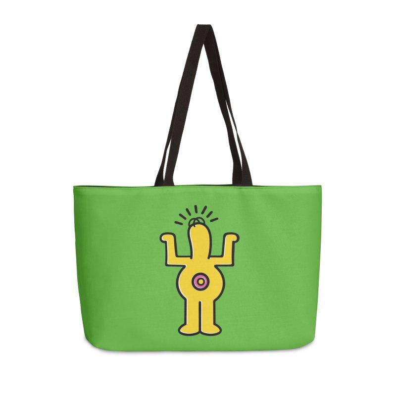 Woo-hoo! Accessories Weekender Bag Bag by Steve Dressler Illustration & Design