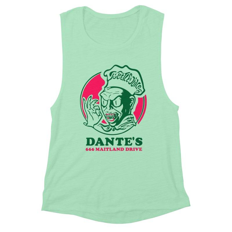 Dante's Women's Muscle Tank by Steve Dressler Illustration & Design