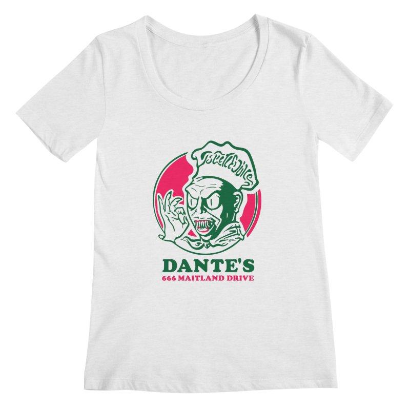 Dante's Women's Regular Scoop Neck by Steve Dressler Illustration & Design