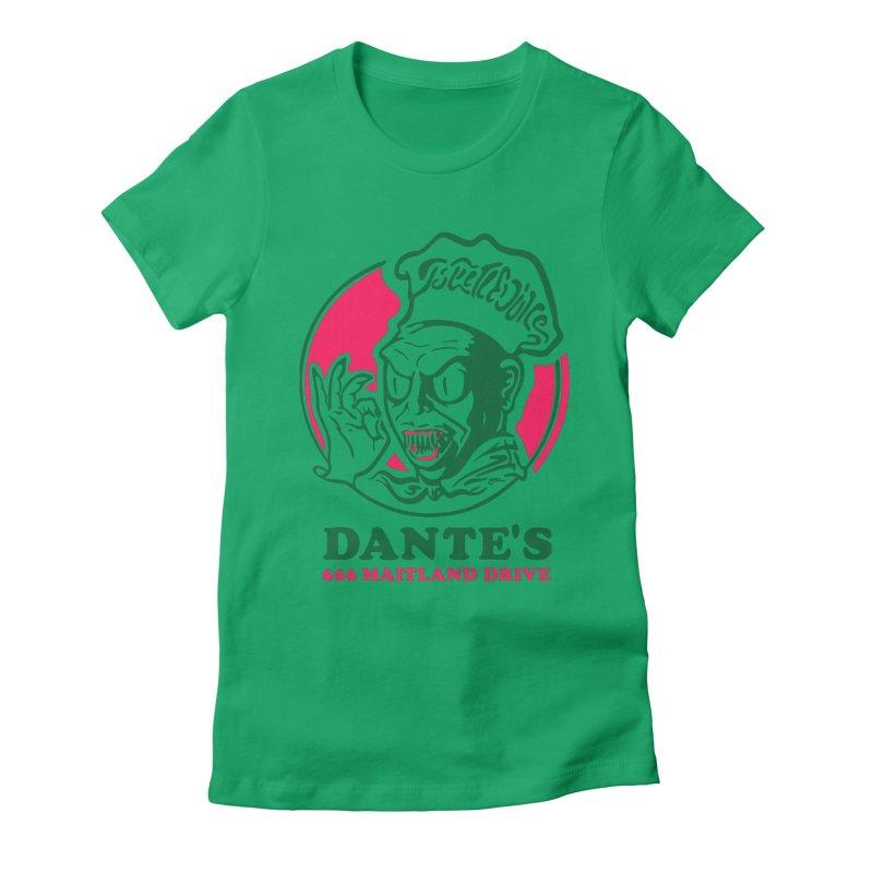 Dante's Women's Fitted T-Shirt by Steve Dressler Illustration & Design