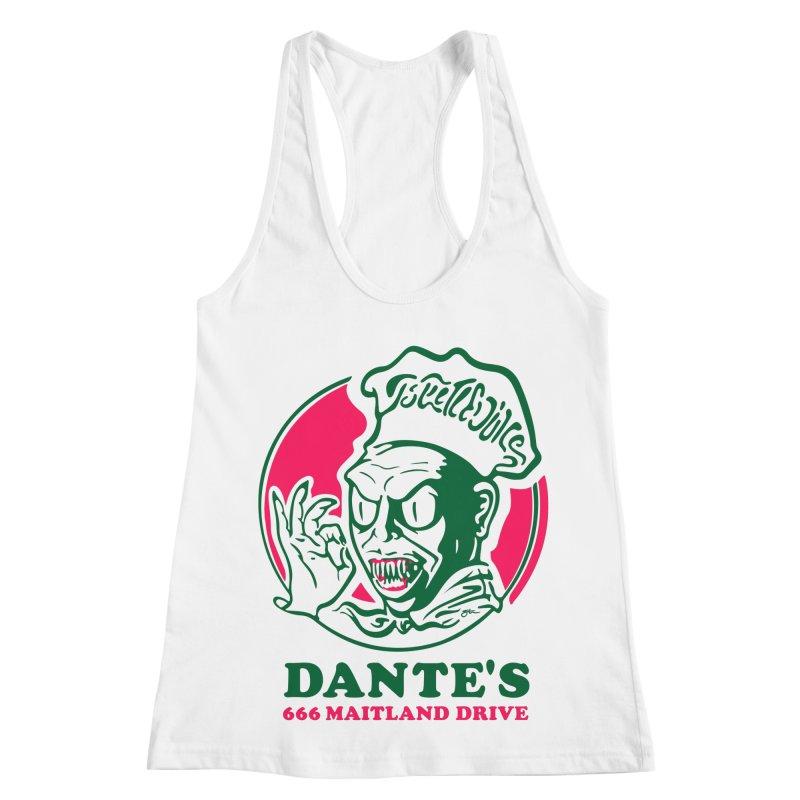 Dante's Women's Racerback Tank by Steve Dressler Illustration & Design