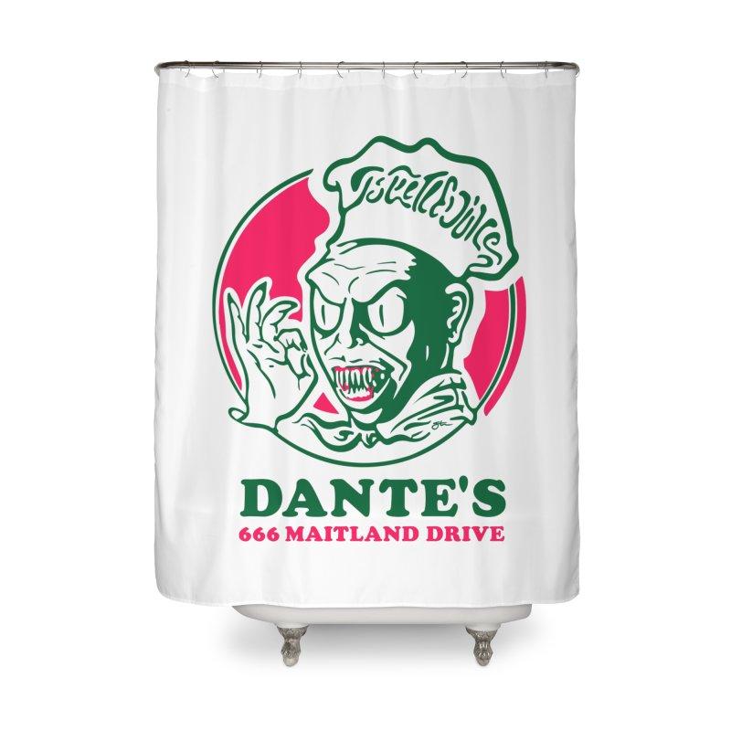 Dante's Home Shower Curtain by Steve Dressler Illustration & Design