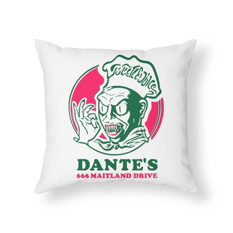 Dante's Home Throw Pillow by Steve Dressler Illustration & Design