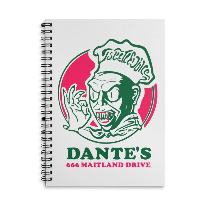 Dante's Accessories Lined Spiral Notebook by Steve Dressler Illustration & Design