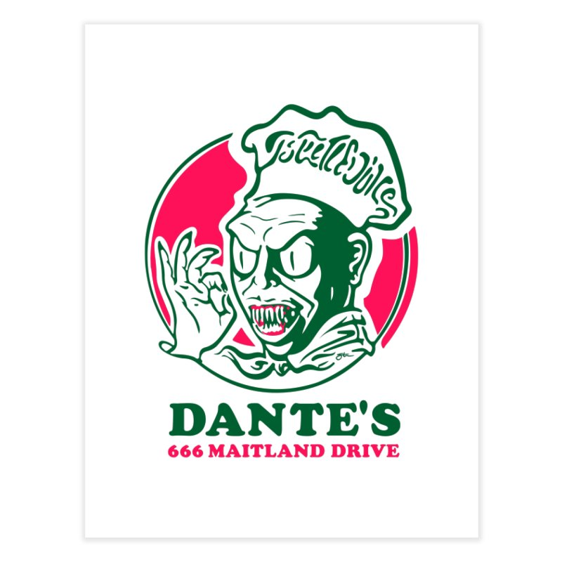 Dante's Home Fine Art Print by Steve Dressler Illustration & Design