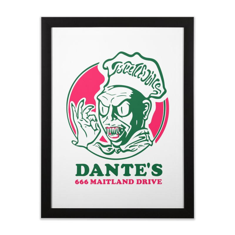 Dante's Home Framed Fine Art Print by Steve Dressler Illustration & Design