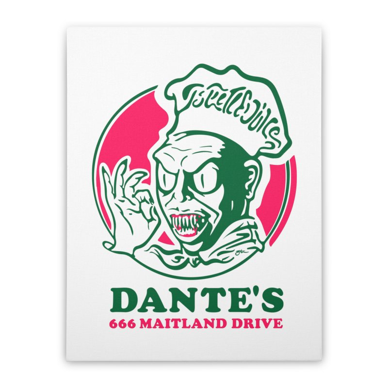 Dante's Home Stretched Canvas by Steve Dressler Illustration & Design