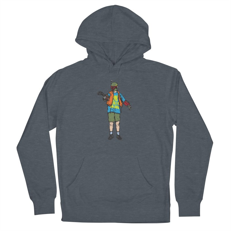 What About Boba? Men's French Terry Pullover Hoody by Steve Dressler Illustration & Design