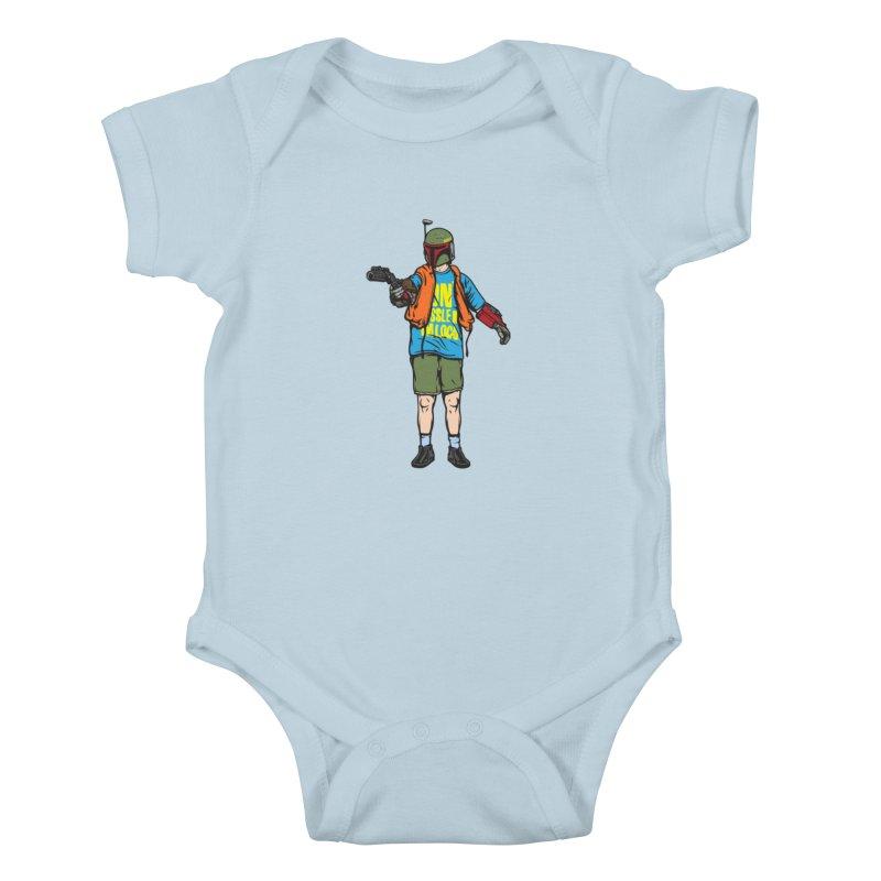 What About Boba? Kids Baby Bodysuit by Steve Dressler Illustration & Design