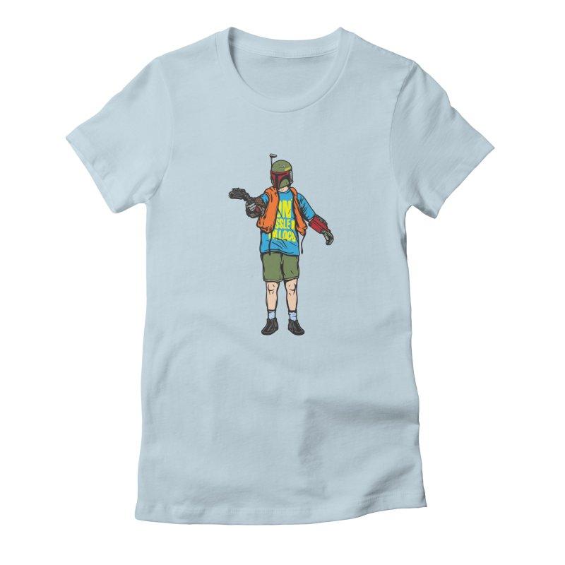 What About Boba? Women's Fitted T-Shirt by Steve Dressler Illustration & Design