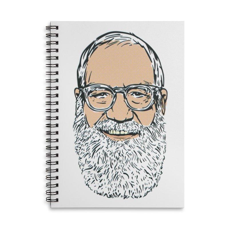 Old Dave Accessories Lined Spiral Notebook by Steve Dressler Illustration & Design