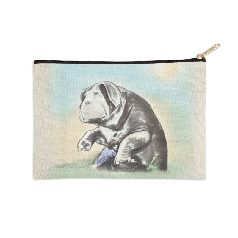 Piggy Accessories Zip Pouch by Steve Dressler Illustration & Design