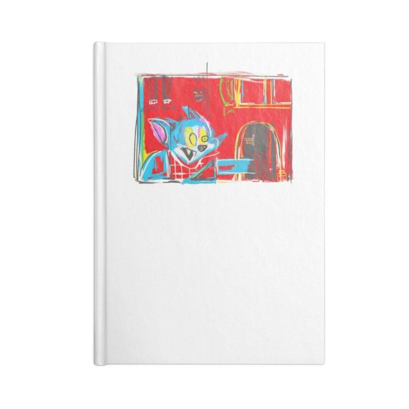 Cat & Mouse Accessories Lined Journal Notebook by Steve Dressler Illustration & Design