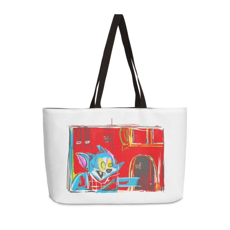 Cat & Mouse Accessories Weekender Bag Bag by Steve Dressler Illustration & Design