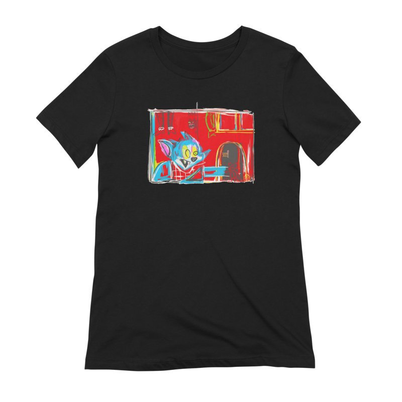 Cat & Mouse Women's Extra Soft T-Shirt by Steve Dressler Illustration & Design