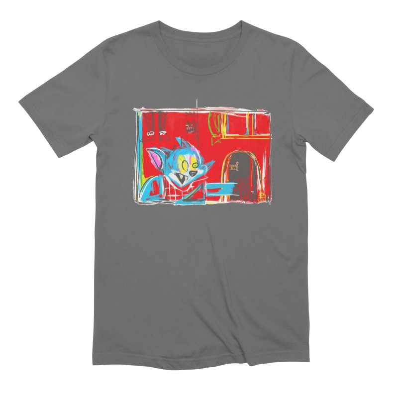 Cat & Mouse Men's T-Shirt by Steve Dressler Illustration & Design