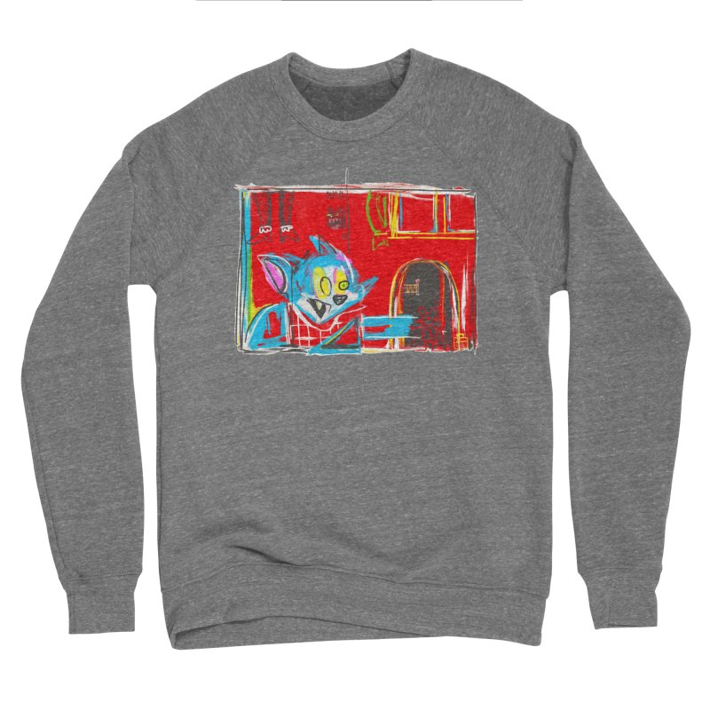 Cat & Mouse Women's Sponge Fleece Sweatshirt by Steve Dressler Illustration & Design