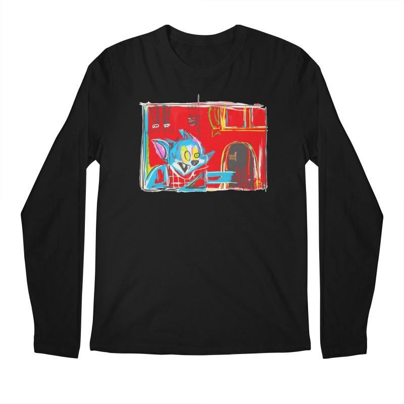 Cat & Mouse Men's Regular Longsleeve T-Shirt by Steve Dressler Illustration & Design