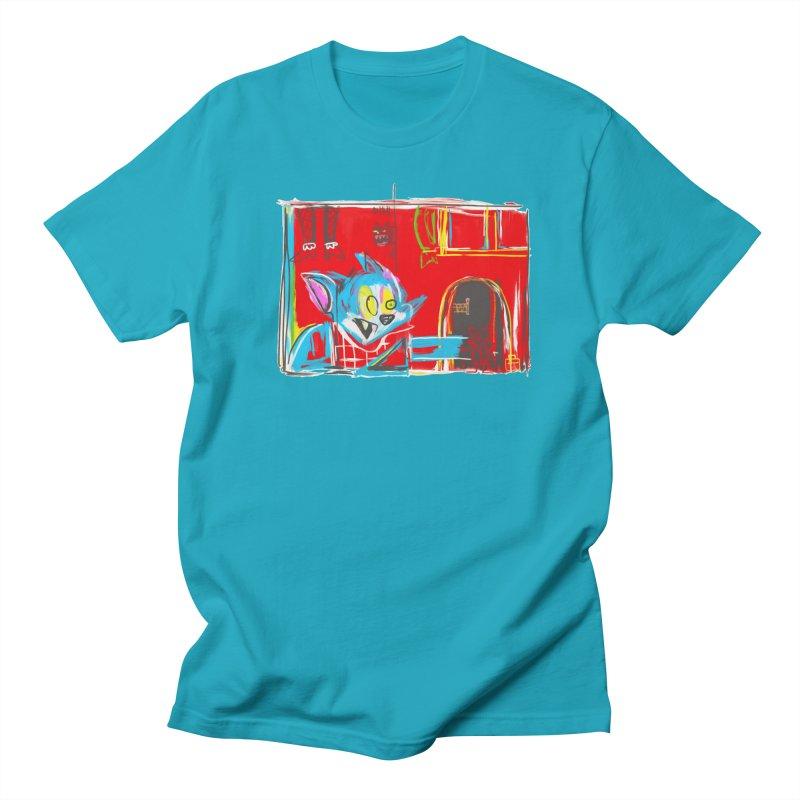 Cat & Mouse Women's Regular Unisex T-Shirt by Steve Dressler Illustration & Design