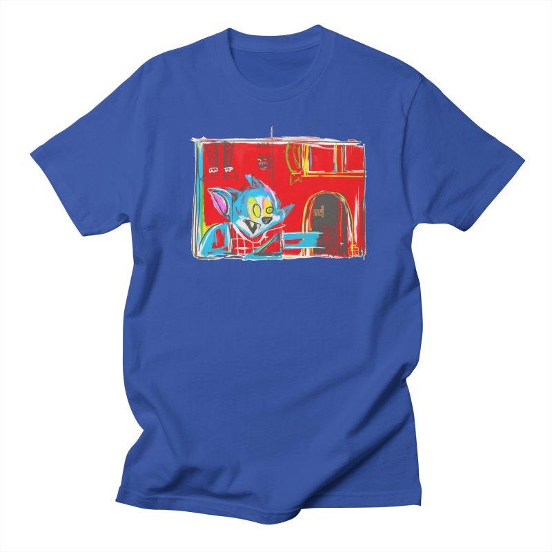 Cat & Mouse Men's Regular T-Shirt by Steve Dressler Illustration & Design