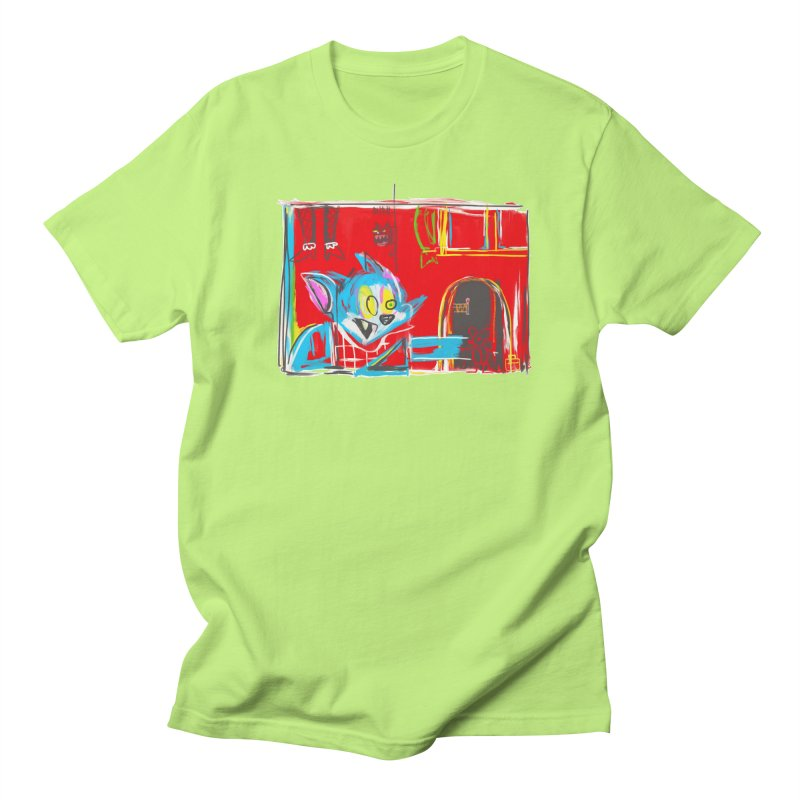 Cat & Mouse Men's T-Shirt by Steve Dressler Illustration & Design