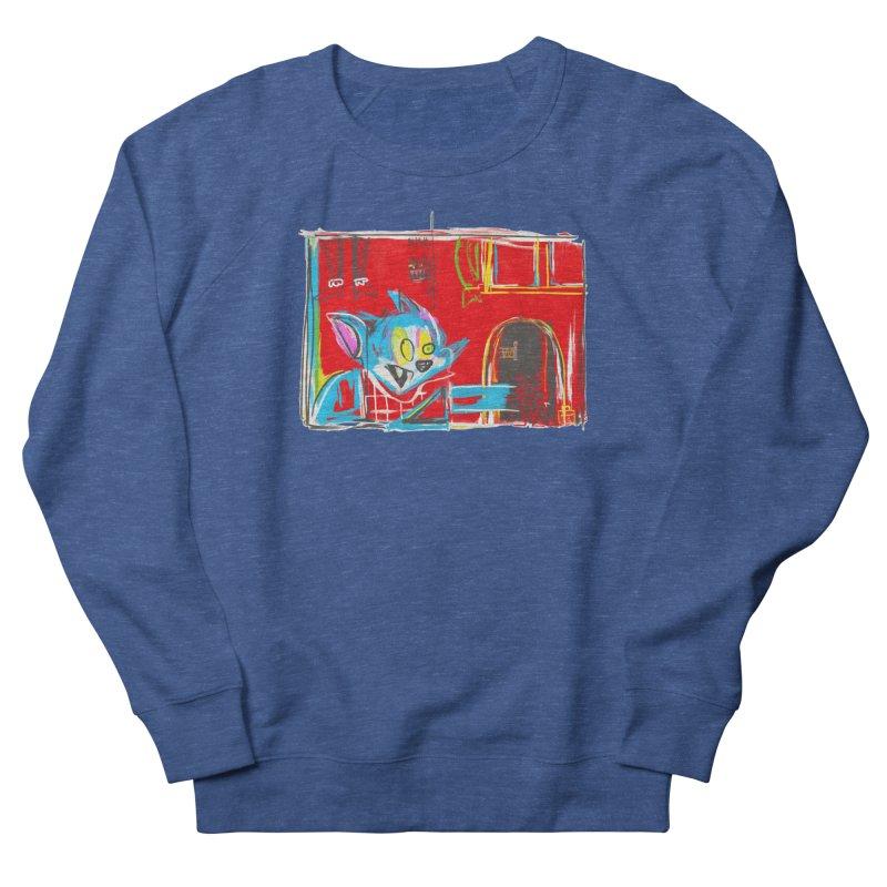 Cat & Mouse Women's French Terry Sweatshirt by Steve Dressler Illustration & Design