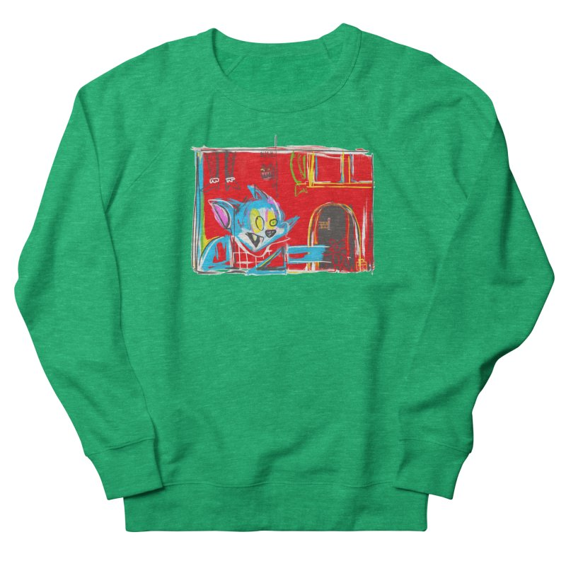 Cat & Mouse Men's French Terry Sweatshirt by Steve Dressler Illustration & Design