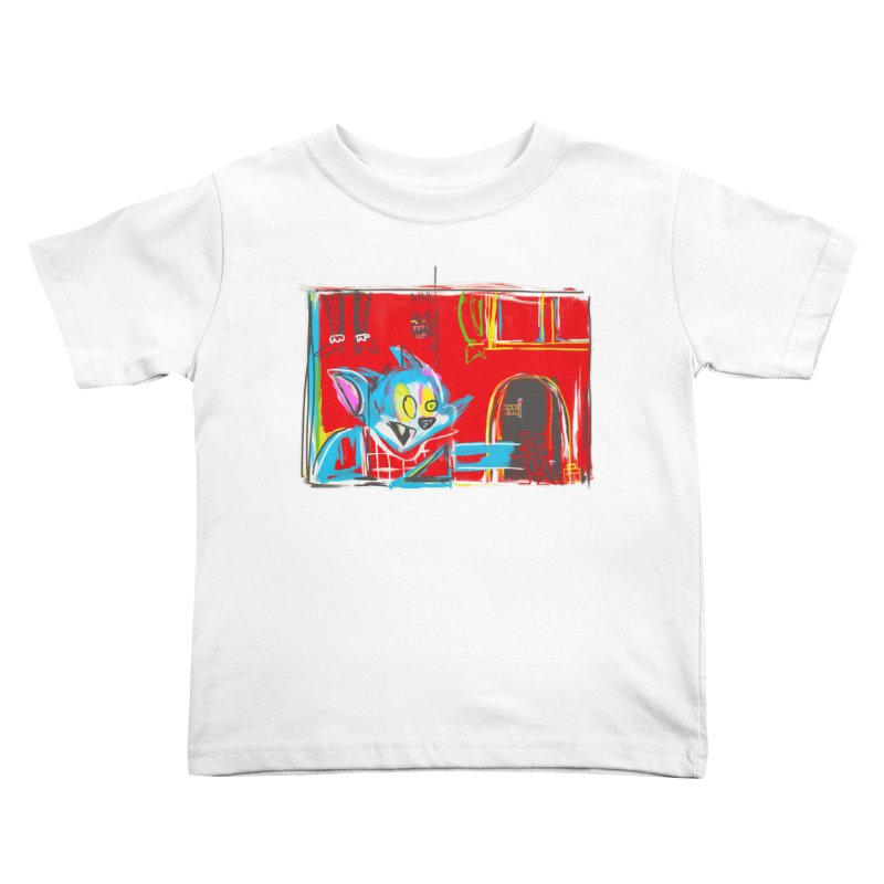 Cat & Mouse Kids Toddler T-Shirt by Steve Dressler Illustration & Design