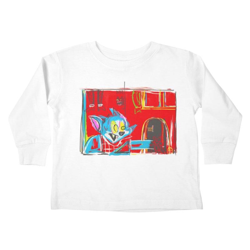 Cat & Mouse Kids Toddler Longsleeve T-Shirt by Steve Dressler Illustration & Design