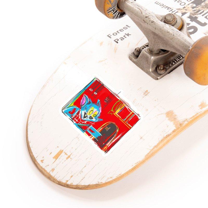 Cat & Mouse Accessories Sticker by Steve Dressler Illustration & Design