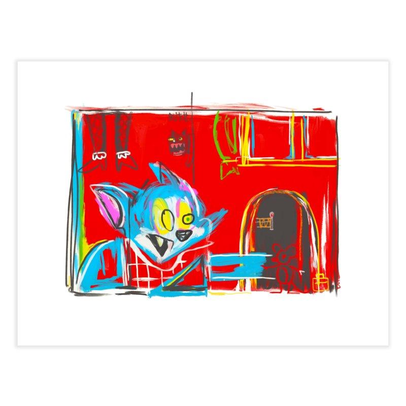 Cat & Mouse Home Fine Art Print by Steve Dressler Illustration & Design