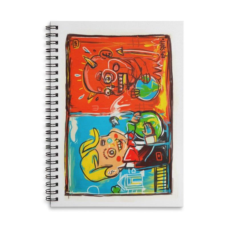 Rich & Evil Accessories Lined Spiral Notebook by Steve Dressler Illustration & Design