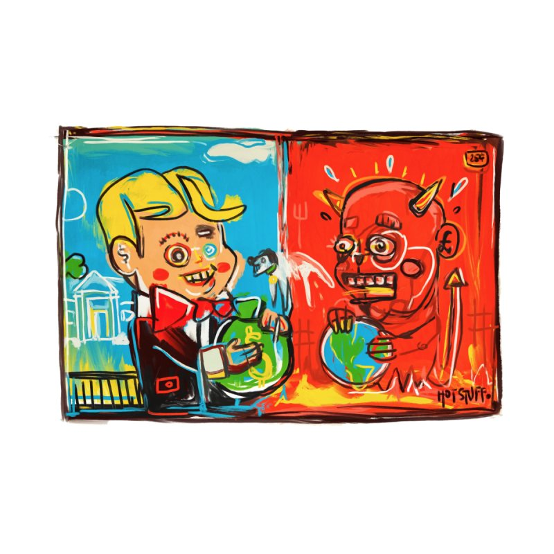 Rich & Evil Home Tapestry by Steve Dressler Illustration & Design
