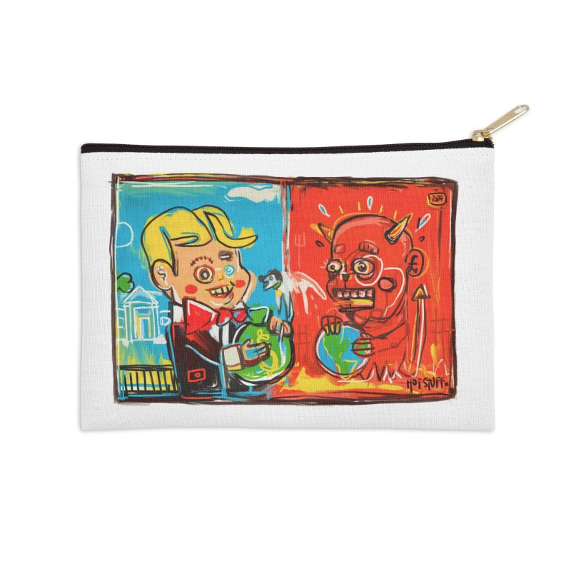 Rich & Evil Accessories Zip Pouch by Steve Dressler Illustration & Design