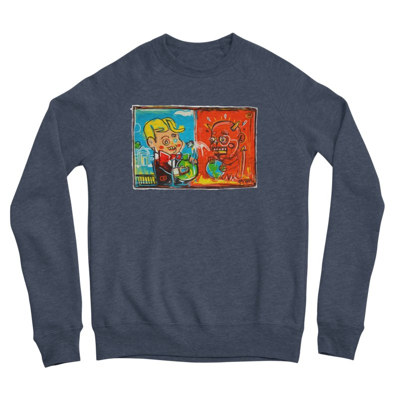 Rich & Evil Men's Sponge Fleece Sweatshirt by Steve Dressler Illustration & Design