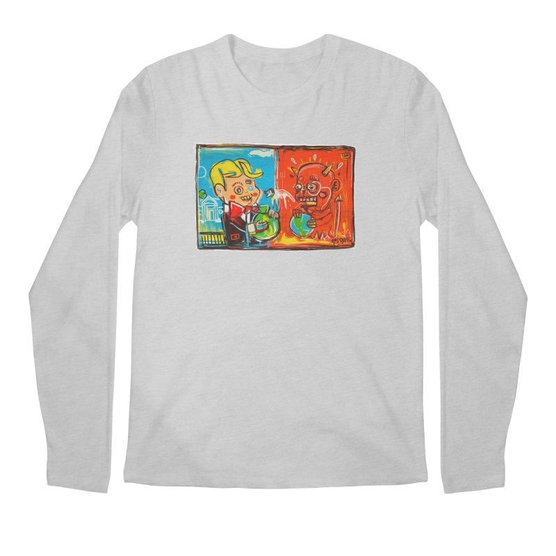 Rich & Evil Men's Regular Longsleeve T-Shirt by Steve Dressler Illustration & Design