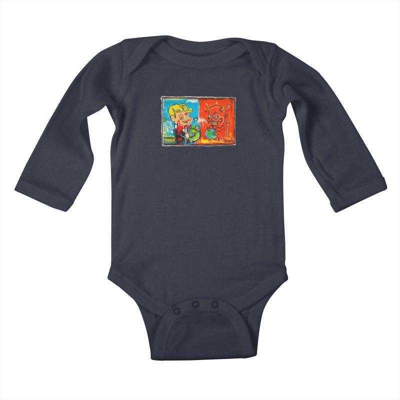 Rich & Evil Kids Baby Longsleeve Bodysuit by Steve Dressler Illustration & Design