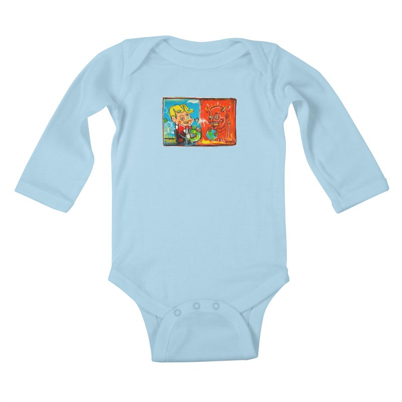 Rich & Evil Kids Baby Longsleeve Bodysuit by Steve Dressler Illustration & Design