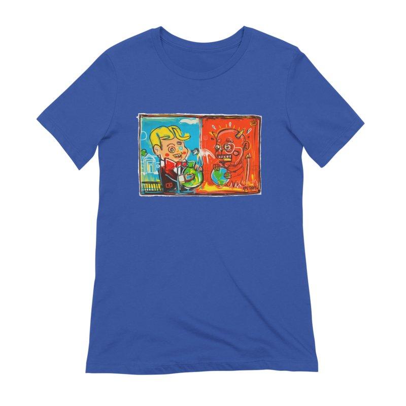 Rich & Evil Women's T-Shirt by Steve Dressler Illustration & Design