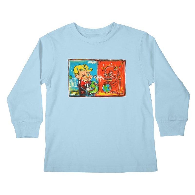 Rich & Evil Kids Longsleeve T-Shirt by Steve Dressler Illustration & Design