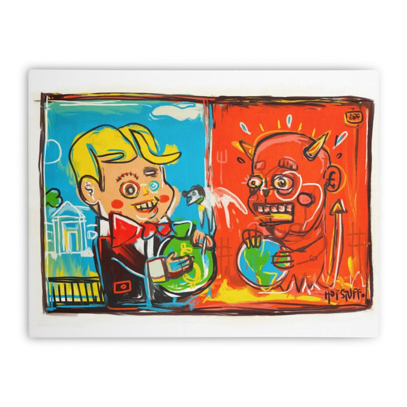 Rich & Evil Home Stretched Canvas by Steve Dressler Illustration & Design