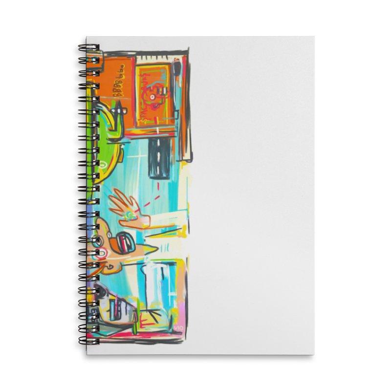Space Family Accessories Lined Spiral Notebook by Steve Dressler Illustration & Design