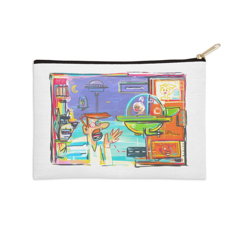Space Family Accessories Zip Pouch by Steve Dressler Illustration & Design