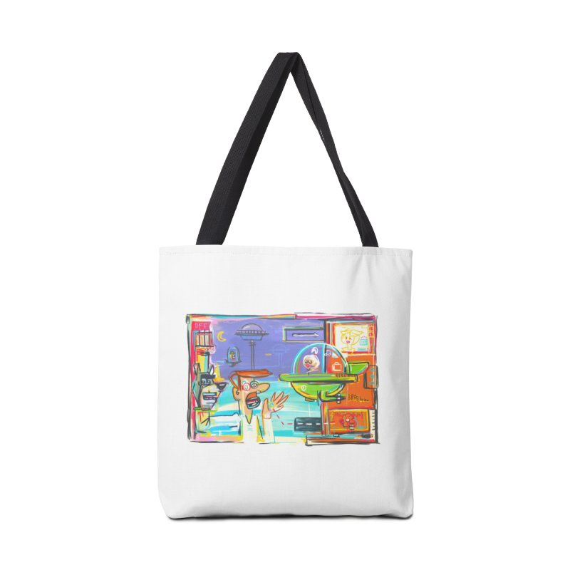 Space Family Accessories Bag by Steve Dressler Illustration & Design