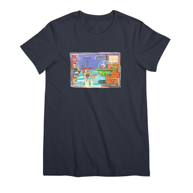Space Family Women's Premium T-Shirt by Steve Dressler Illustration & Design