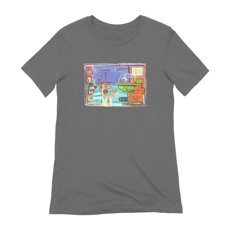 Space Family Women's Extra Soft T-Shirt by Steve Dressler Illustration & Design