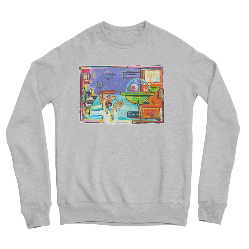 Space Family Women's Sponge Fleece Sweatshirt by Steve Dressler Illustration & Design