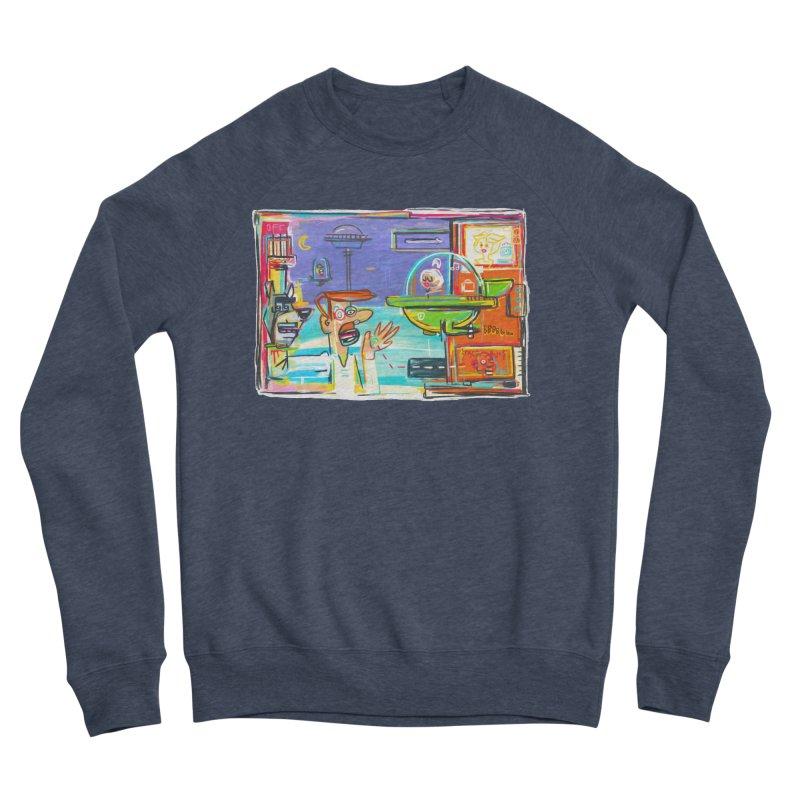 Space Family Men's Sponge Fleece Sweatshirt by Steve Dressler Illustration & Design