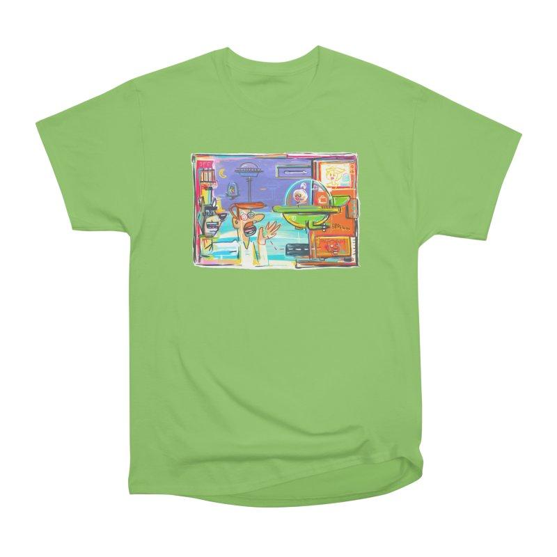 Space Family Men's Heavyweight T-Shirt by Steve Dressler Illustration & Design